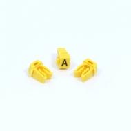 Anilha Wic Amarelo Letra A - Pacote C/100
