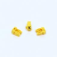 Anilha Wic Amarelo Letra K - Pacote C/100