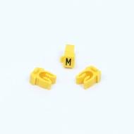 Anilha Wic Amarelo Letra M - Pacote C/100
