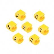 Anilha Wic Amarelo Letra E - Pacote C/100