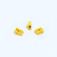 Anilha Wic Amarelo Letra B - Pacote C/100