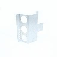 ADAPTADOR MET P/ CAIXA PISO ELEV STD 4 RJ KEYST + 3 TOMADAS