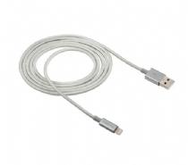 CABO USB LIGHTNING 1.5M NYLON BRANCO EUAL15NB (APPPLE)