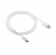 CABO USB MICRO B 1.2M PVC BRANCO EUAB12PB
