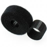 Abracadeira Velcro Preta Rolo 3.0m